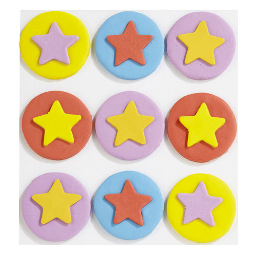 EK Success - Jolee's Boutique - Confections Collection - 3 Dimensional Stickers - Fondant Stars