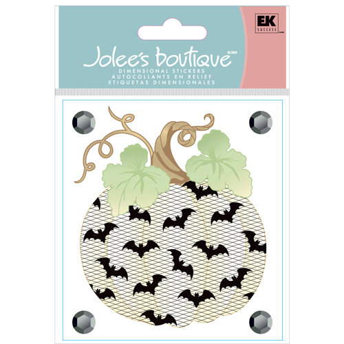 EK Success - Jolee's Boutique - Halloween Collection - 3 Dimensional Stickers with Gem Accents - Lace Pumpkin
