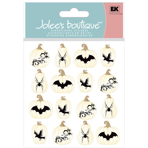 EK Success - Jolee's Boutique - Halloween Collection - 3 Dimensional Stickers - White Pumpkin Repeats