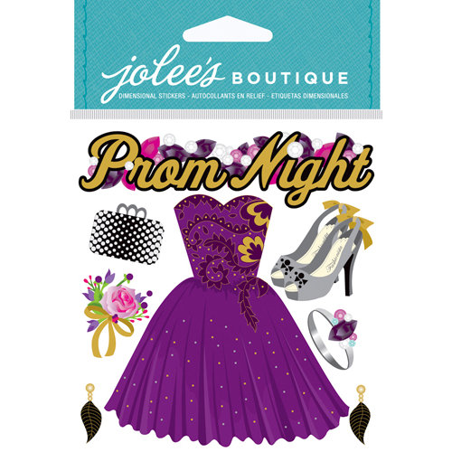 EK Success - Jolee's Boutique - Core Refresh Collection - 3 Dimensional Stickers with Gem and Glitter Accents - Prom Night