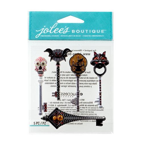 EK Success - Jolee's Boutique - Halloween 2013 Collection - 3D Stickers with Gem Accents - Spooky Keys