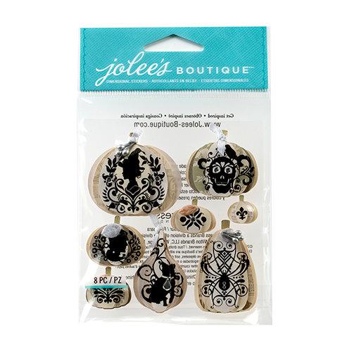 EK Success - Jolee's Boutique - Halloween 2013 Collection - 3D Stickers with Gem Accents - Silhouette Pumpkins