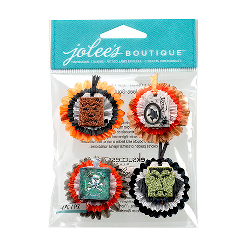 EK Success - Jolee's Boutique - Halloween 2013 Collection - 3D Stickers with Glitter Accents - Metallic Honeycombs