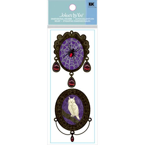 EK Success - Jolee's Boutique - Halloween Collection - 3 Dimensional Stickers with Gem Accents - Owl and Spider Pendants