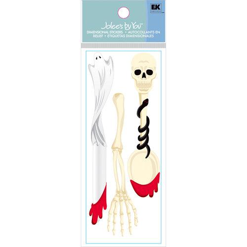 EK Success - Jolee's Boutique - Halloween Collection - 3 Dimensional Stickers - Halloween Cutlery