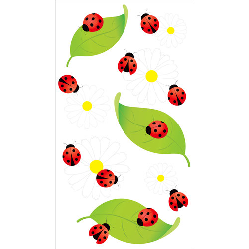 EK Success - Jolee's Boutique - 3 Dimensional Stickers with Epoxy and Glitter Accents - Vellum Ladybugs