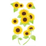 EK Success - Jolee's Boutique - 3 Dimensional Stickers with Glitter Accents - Vellum Sunflowers