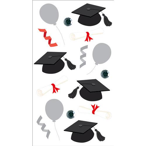 EK Success - Jolee's Boutique - 3 Dimensional Stickers with Glitter and Gem Accents - Vellum Graduation