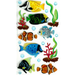 EK Success - Jolee's Boutique - 3 Dimensional Stickers with Epoxy and Glitter Accents - Tropical Fish Large