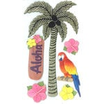 EK Success - Jolee's Boutique - Parcel Refresh Collection - 3 Dimensional Stickers with Glitter Accents - Palm Tree