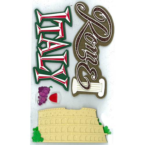 EK Success - Jolee's Boutique - 3 Dimensional Stickers with Epoxy Foil and Gem Accents - Italy