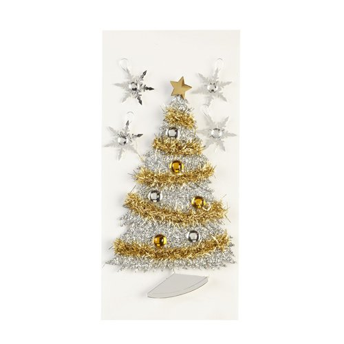 EK Success - Jolee's Boutique - Parcel Collection - Christmas - 3 Dimensional Stickers with Foil Gem and Glitter Accents - Frosted Christmas Tree