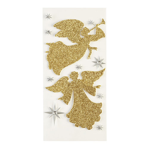 EK Success - Jolee's Boutique - Parcel Collection - Christmas - 3 Dimensional Stickers with Foil and Gem Accents - Glitter Angels