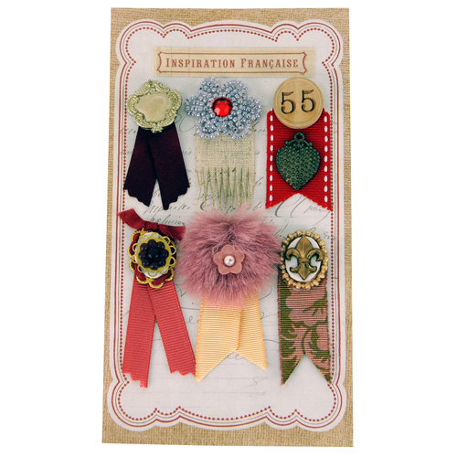 EK Success - Jolee's Boutique - French General Collection - Metal Ribbons