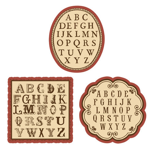 EK Success - Jolee's Boutique - French General Collection - Alphabet Pack