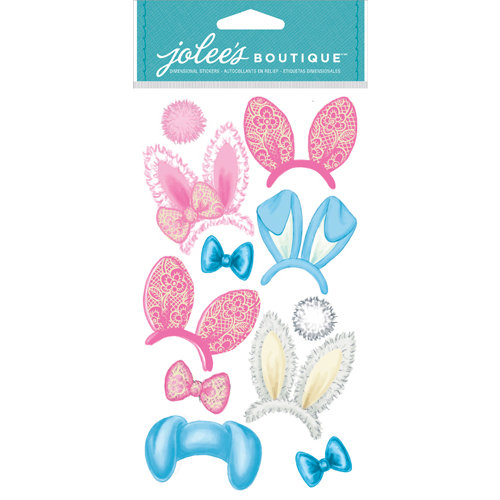 EK Success - Jolee's Boutique - Dress Ups Collection - 3 Dimensional Stickers - Bunny Ears