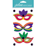 EK Success - Jolee's Boutique - Dress Ups Collection - 3 Dimensional Stickers - Mardi Gras Masks