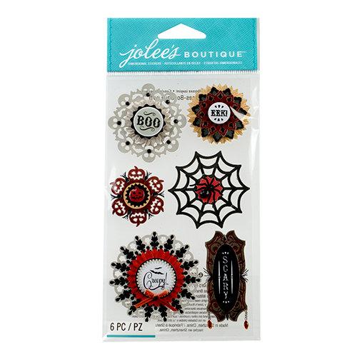 EK Success - Jolee's Boutique - Halloween 2013 Collection - 3D Stickers - Large Doily Medallions