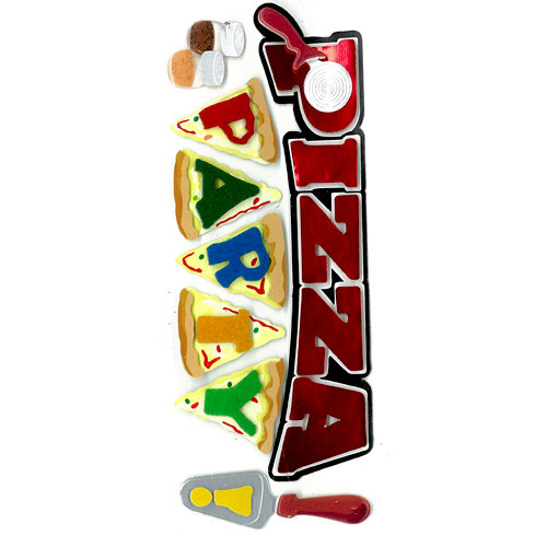 EK Success - Jolee's Boutique - 3 Dimensional Stickers with Epoxy and Foil Accents - Pizza Party