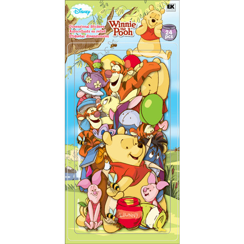 EK Success - Disney Collection - Chipboard Pieces - Winnie the Pooh
