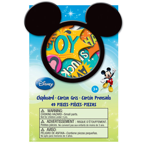 EK Success - Disney Collection - Mickey Family - Chipboard Box with Glitter Accents