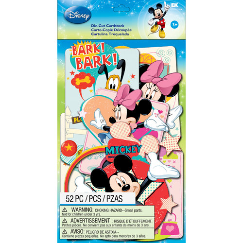 EK Success - Disney Collection - Mickey Family - Die Cut Cardstock Pieces