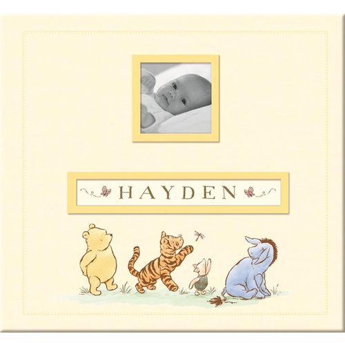 EK Success - Disney Collection - 12 x 12 Album - Frame a Name - Pooh
