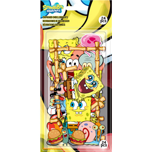 EK Success - Nickelodeon Collection - Chipboard Pieces - SpongeBob