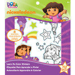 EK Success - Nickelodeon Collection - Learn to Color Stickers - Dora the Explorer