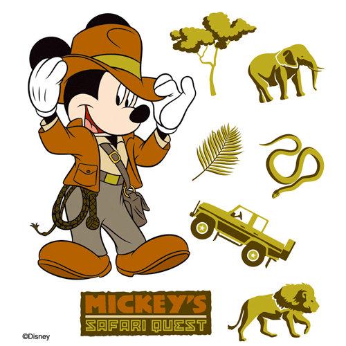 EK Success - Disney Collection - 3 Dimensional Stickers - Mickey Safari