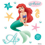 EK Success - Disney Collection - 3 Dimensional Stickers with Foil Gem and Glitter Accents - Ariel