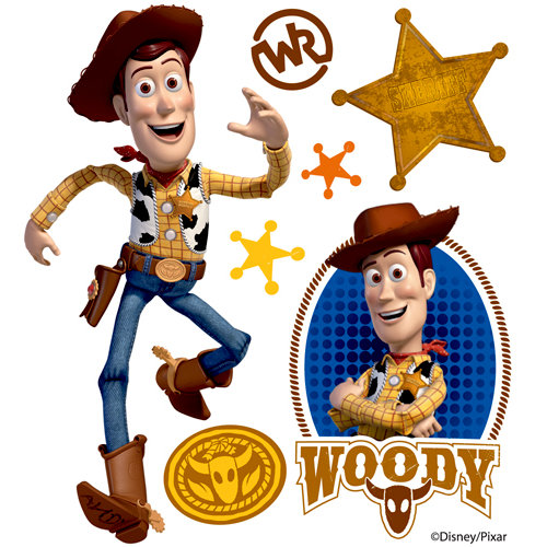 EK Success - Disney Collection - 3 Dimensional Stickers with Epoxy and Foil Accents - Woody
