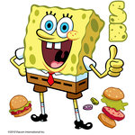 EK Success - Nickelodeon Collection - 3 Dimensional Stickers with Epoxy Accents - SpongeBob Squarepants