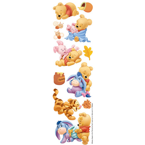 EK Success - Disney Collection - 3 Dimensional Stickers with Varnish Accents - Baby Pooh