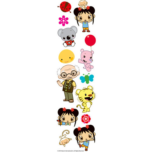 EK Success - Nickelodeon Collection - 3 Dimensional Stickers with Varnish Accents - Nihao Kai-lan