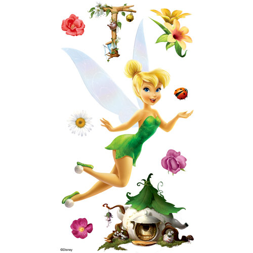EK Success - Disney Collection - 3 Dimensional Stickers with Foil Glitter and Varnish Accents - Tinker Bell