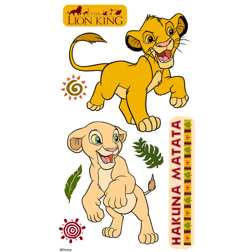 EK Success - Disney Collection - 3 Dimensional Stickers with Epoxy and Varnish Accents - Lion King