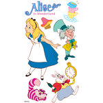 EK Success - Disney Collection - 3 Dimensional Stickers with Epoxy and Foil Accents - Alice in Wonderland