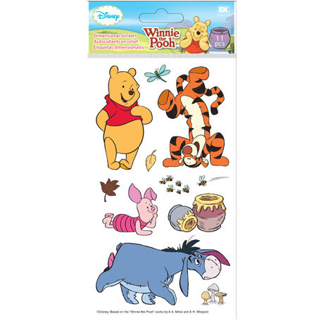 EK Success - Disney Collection - 3 Dimensional Stickers - Winnie the Pooh