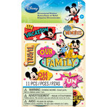 EK Success - Disney Collection - Mickey Family - 3 Dimensional Stickers with Glitter Accents