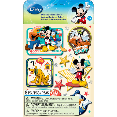 EK Success - Disney Collection - Mickey Family - 3 Dimensional Stickers with Epoxy Accents - Boys
