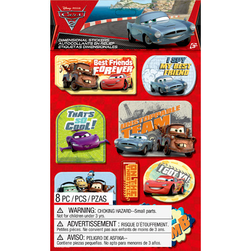 EK Success - Disney Collection - Cars 2 - 3 Dimensional Stickers with Epoxy and Varnish Accents