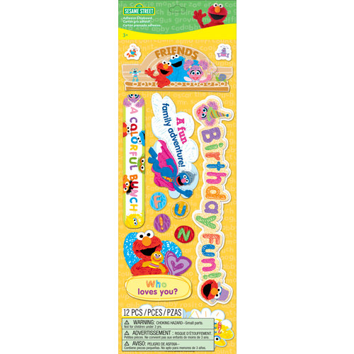 EK Success - Sesame Street Collection - Chipboard Stickers with Varnish Accents - Titles