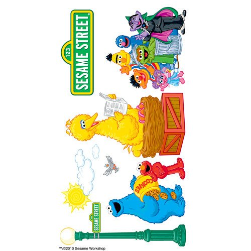 EK Success - Sesame Street Collection - 3 Dimensional Stickers with Foil and Varnish Accents - Sesame Street Group