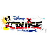 EK Success - Disney Collection - 3 Dimensional Title Stickers with Epoxy Foil and Glitter Accents - Disney Cruise