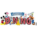 EK Success - Disney Collection - 3 Dimensional Title Stickers with Foil Accents - Character Dining
