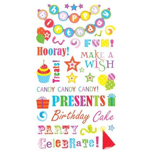 EK Success - Sticko Classic Stickers - Birthday Phrases