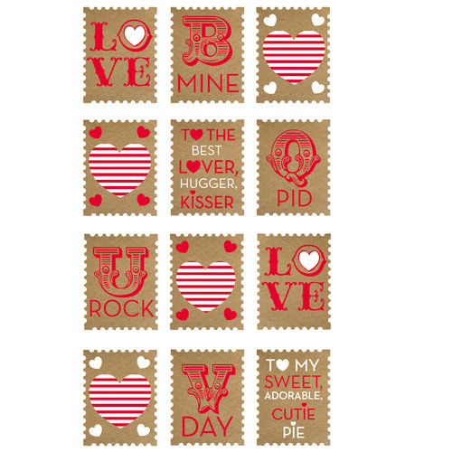 EK Success - Sticko Classic Stickers - Love Stamps