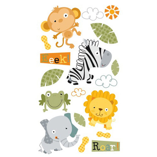EK Success - Sticko Classic Collection - Stickers - Jungle Buddies