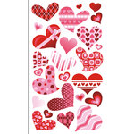 EK Success - Sticko Classic Collection - Stickers - Funky Hearts